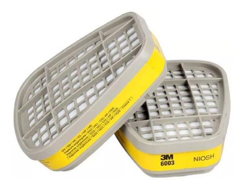 filtro cartucho  vapores organicos 6003 3m (par)