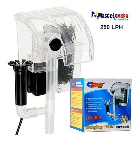 filtro cascada para acuarios peceras 250 lph  doble entrada
