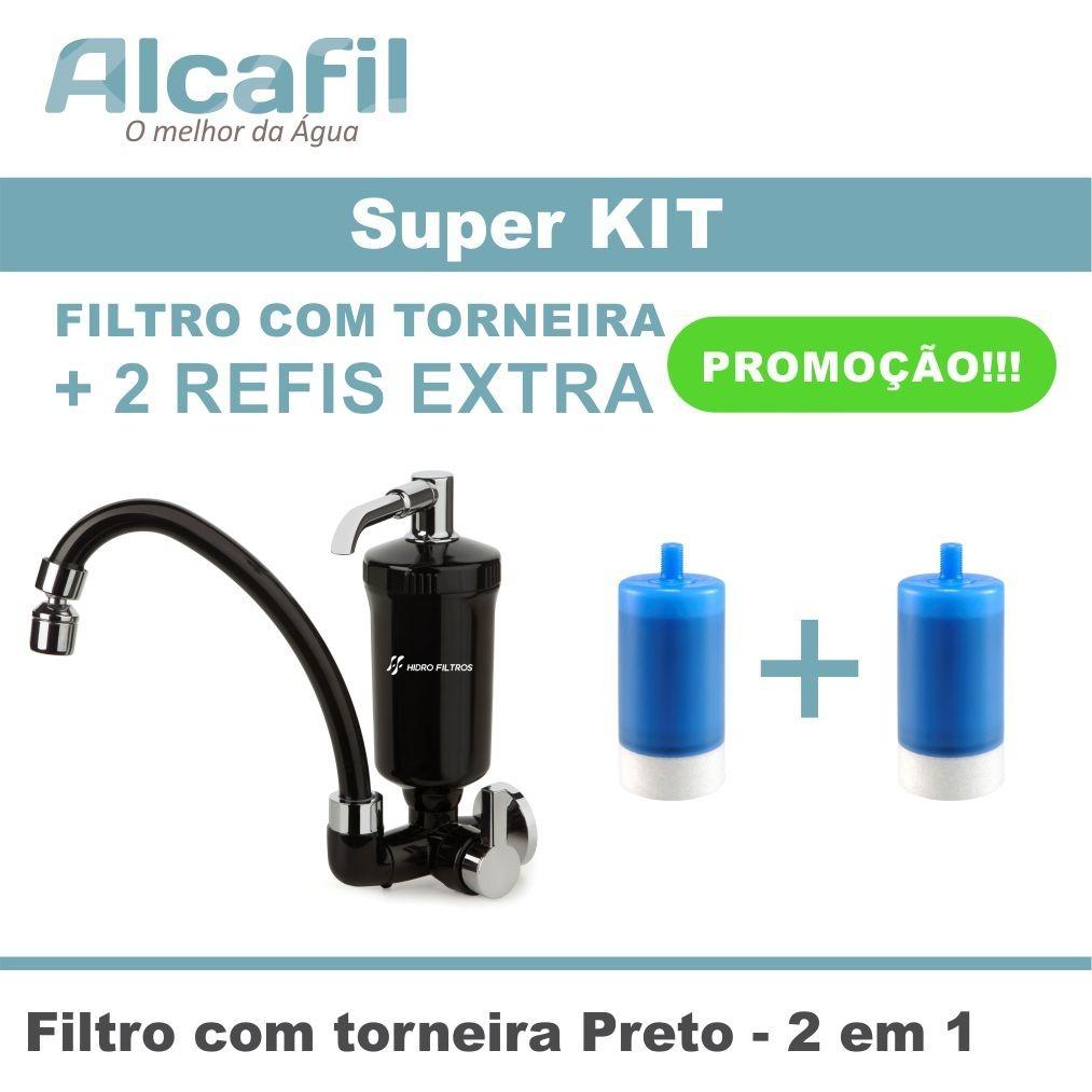 Filtro Com Torneira Preto Cozinha 2 Refis Extra R 100 00 Em
