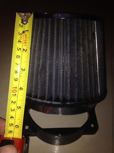 filtro conico de aire kyn con adaptador para mitsubishi