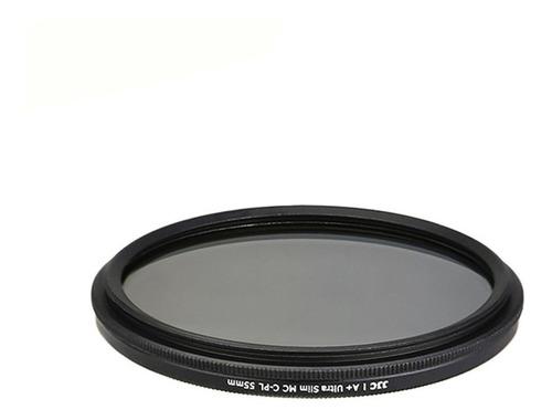 filtro cpl para lente 55mm nikon sony polarizado profesional