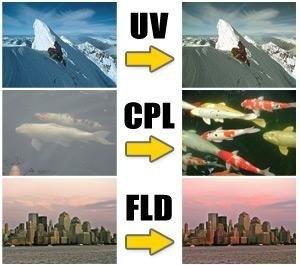 filtro de 43mm kit completo de 3 unidades (uv,fld & cpl)