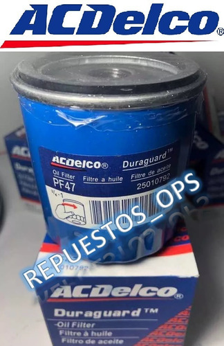 filtro de aceite aveo corsa optra astra ( palio siena 1.8 )