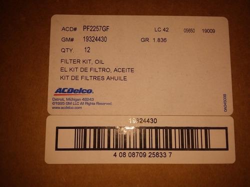 filtro de aceite cruze acdelco