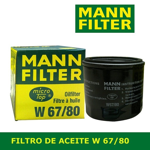 Mann-Filter w67//1 filtro aceite para mazda