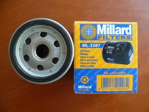 filtro de aceite millard ml-3387- aveo, optra, corsa, fiat