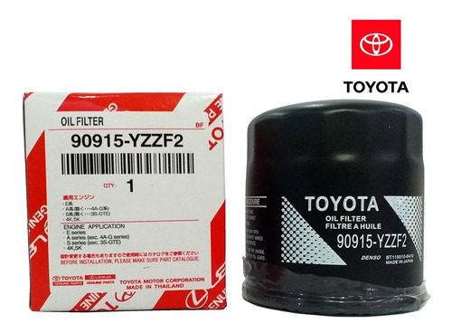 filtro de aceite toyota 90915-yzzf2 corolla terio hilux4unid