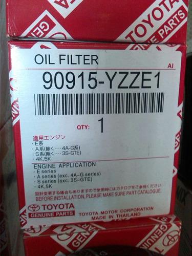 filtro de aceite toyota original corolla yaris terios