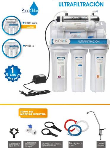 filtro de agua 6 etapas ultrafiltacion y uv 6 watts 1.9 lpm