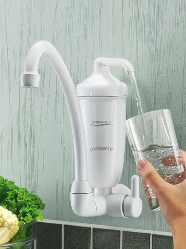 filtro de água acqua bella c/torneira bica alta lorenzetti