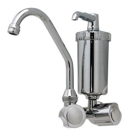 filtro de água com torneira em metal 2 em 1