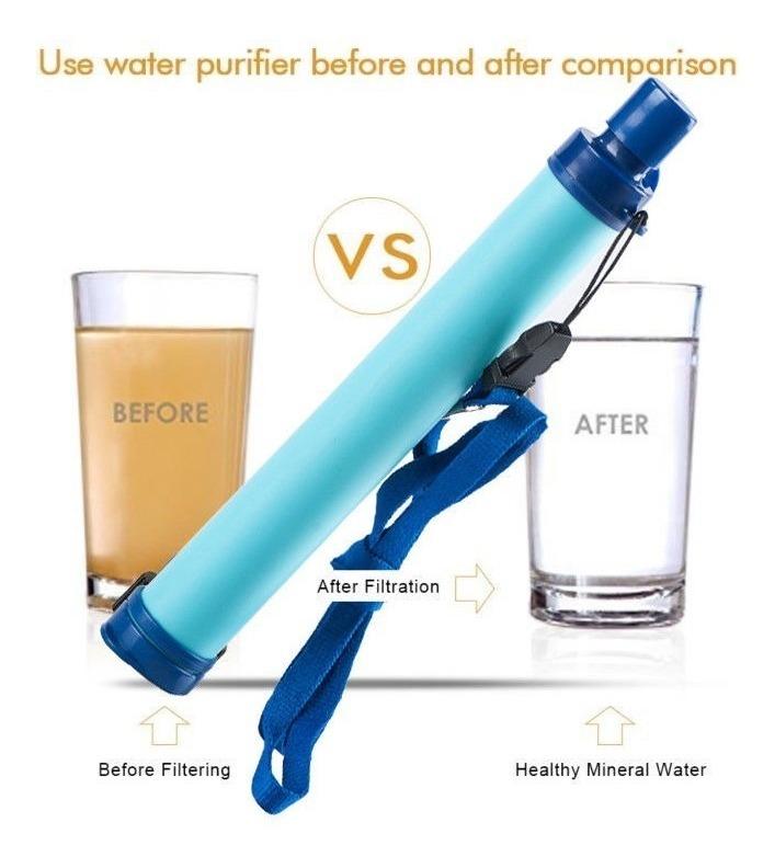 Filtração de água portátil Sobrevivência Palha Salva Vidas purificação camping caminhadas