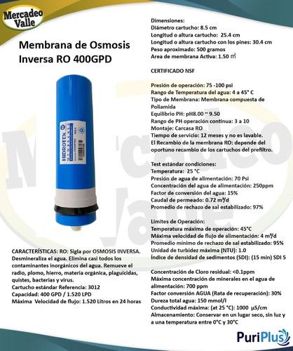 filtro de agua ósmosis inversa 800 gpd 4 etapas purificador