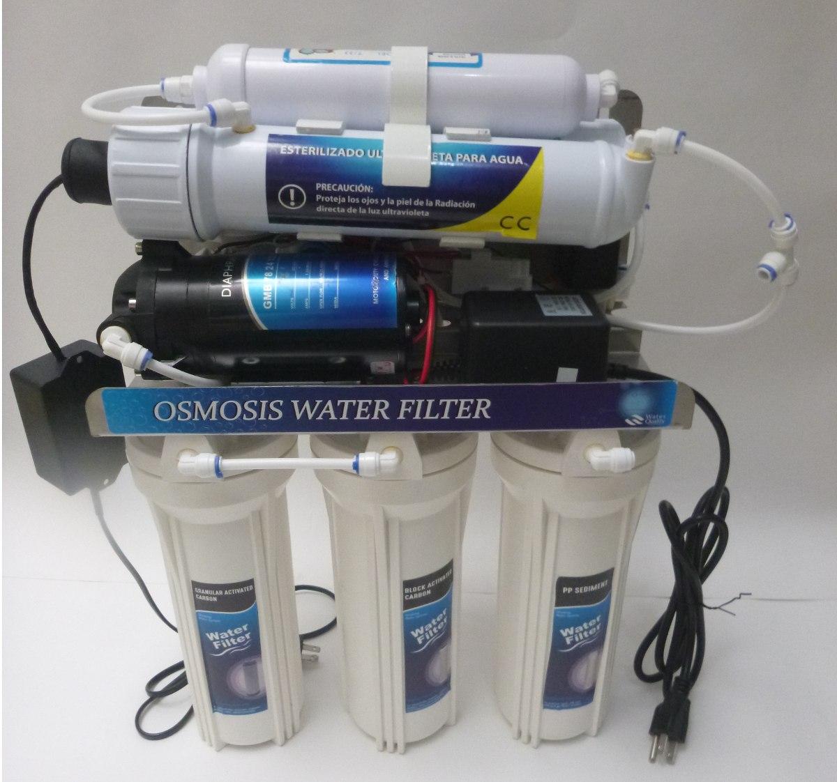 Filtro de agua osmosis inversa ultravioleta 100 gpd 6 - Agua de osmosis ...