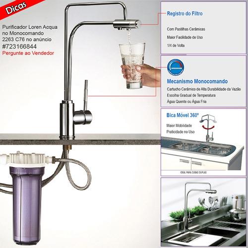 filtro de agua para monocomando cozinha gourmet lorenzetti