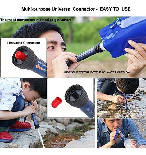 filtro de agua portátil straw outdoor advanced kill bacteria