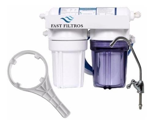 filtro de água residencial fast filtros 3 estágios 5 polegad