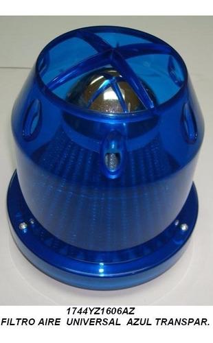 filtro de aire cónico 3 pulgadas azul