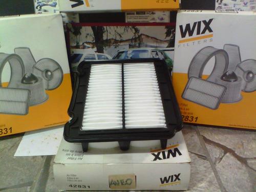 filtro de aire de motor aveo 1.6 año 2005 al 2015 42831 wix