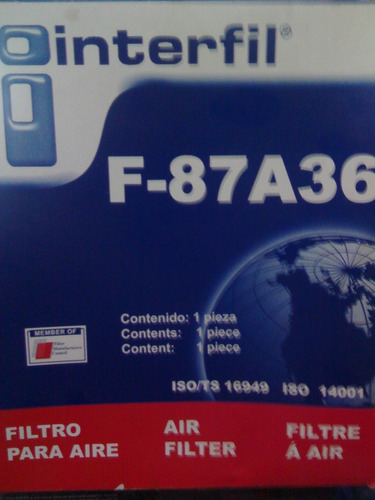filtro de aire  ford ka