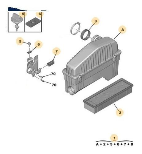 filtro de aire peugeot 208 1.6 16v