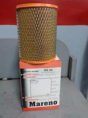 filtro de aire  peugeot 505 gr-gr 5v / sr-sr 5v mareno 026