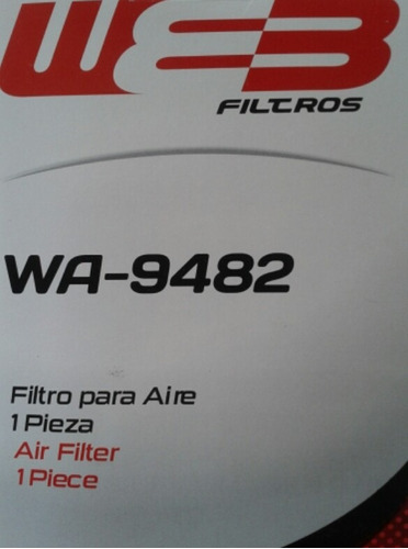 filtro de aire toyota new sensation