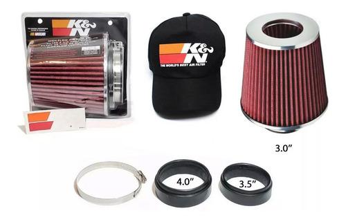 filtro de ar cônico duplo fluxo esp k&n rg-1001rd + brindes