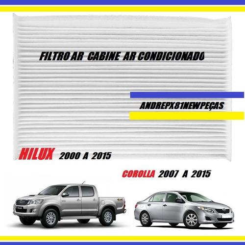 filtro de ar condicionado cabine corolla 2007 2013 2014 2015