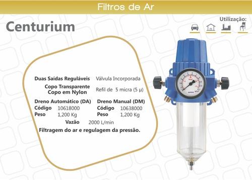 filtro de ar e regulador de pressão centurium - arprex