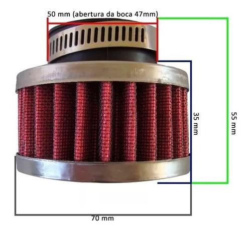 filtro de ar esportivo 47mm yamaha xt 225 - autotec