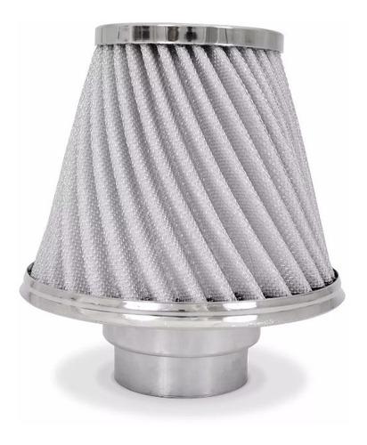 filtro de ar esportivo carro race chrome duplo fluxo twister