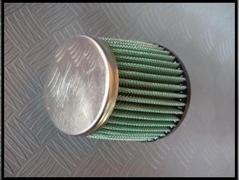 filtro de ar esportivo conico p/ turbina t2-verde