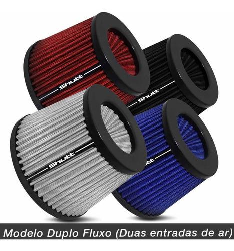 filtro de ar esportivo duplofluxo 72mm monster shutt tuning