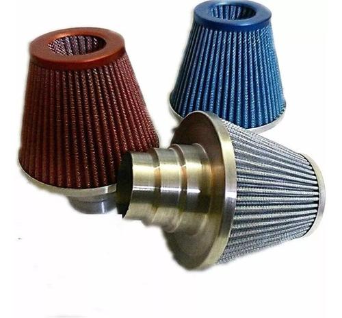 filtro de ar esportivo em alumínio tamanho extra grande 18 .5cm gasolina diesel e álcool marca rs air filter lavável