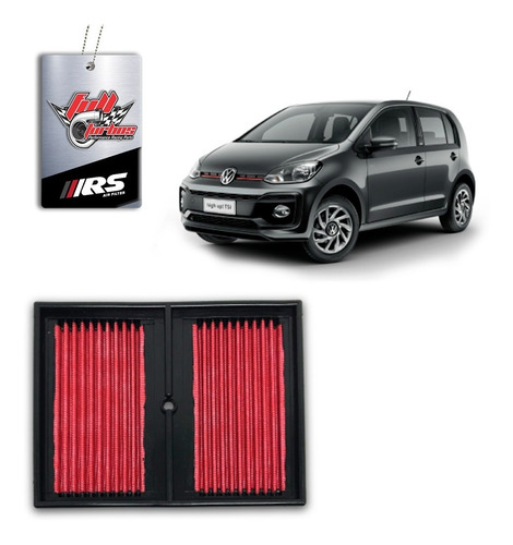 filtro de ar esportivo inbox vw up tsi 1.0 turbo - rs4280