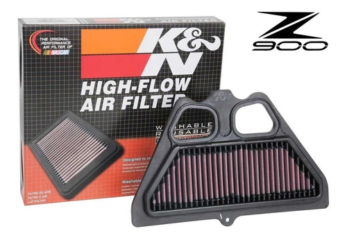 filtro de ar esportivo k&n kn ka-9017 kawasaki z900 z 900