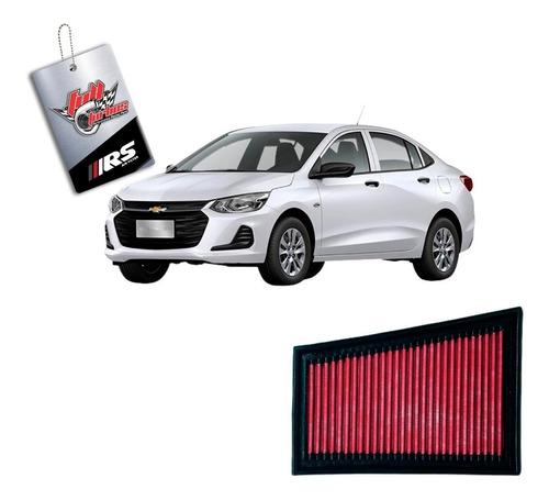 filtro de ar esportivo onix 1.0 turbo - hach/ sedan - rs2934