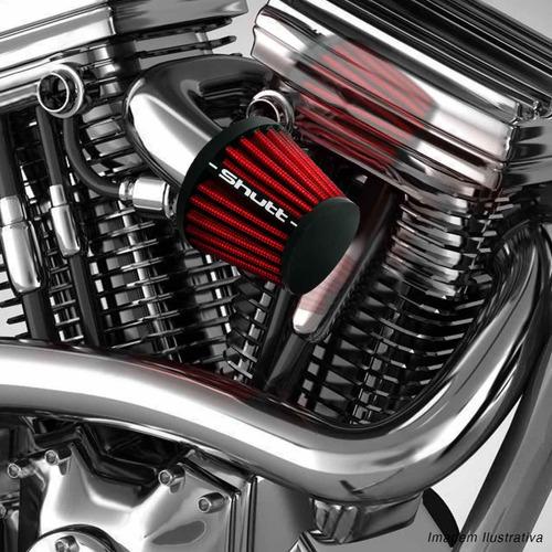 filtro de ar moto esportivo monofluxo 50mm shutt tuning