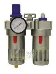 filtro de ar+regulador+lubrificador 1/4 p/ compressor 150lbs