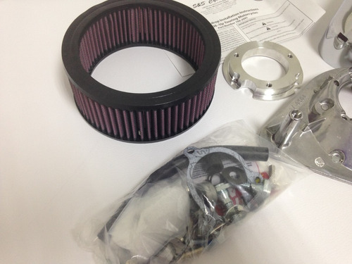 filtro de ar s&s para harley davidson injetada 2007 a 2015