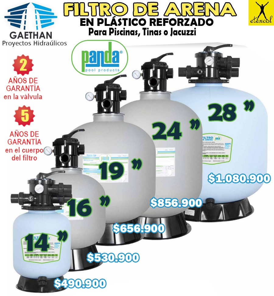 Filtro de arena para piscina o jacuzzi de 28 con for Filtro arena piscina