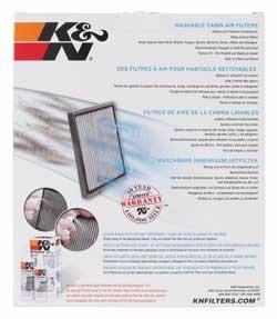 filtro de cabina k y n 100% original