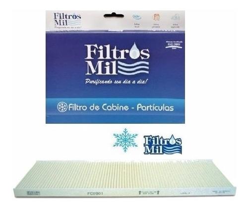 filtro de cabine ar condicionado fiat ducato 2.3/2.8 fc0901