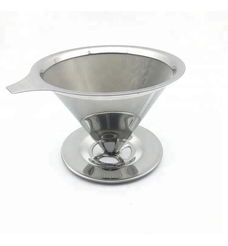 filtro de café, té o mate reutilizable de acero inoxidable
