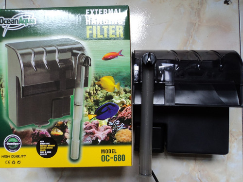 filtro de cascada ocean aqua p/acuarios de 100-200 lts envio