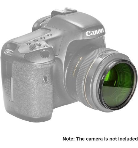 filtro de color 52mm verde para nikon canon sony
