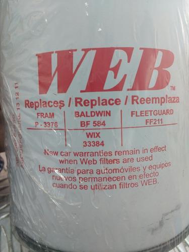 filtro de combustible carterpillar wix 33384 fram p-3376