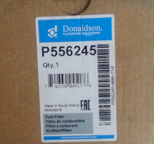 filtro de combustible marca donaldson p556245
