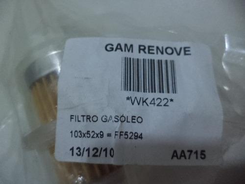 filtro de combustível wk422 renault